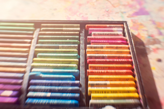 Pastels in a box