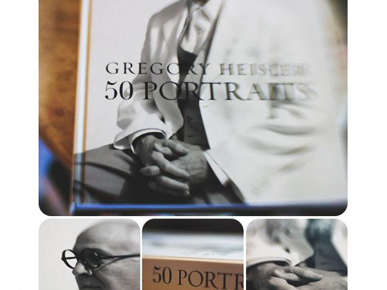 Group of images of Gregory Heisler's book, 50 Portraits